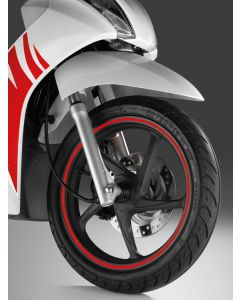 Honda Wielstickerset Zilver PCX 125/250 (11-17)