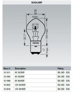 Universal Lamp 12V 35/35W