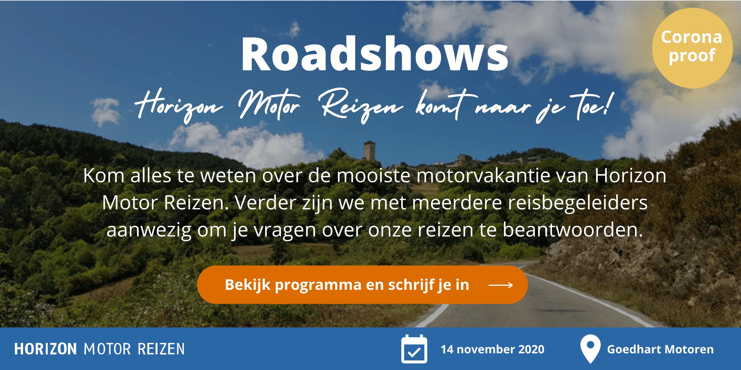 Roadshows Horizon Motorreizen