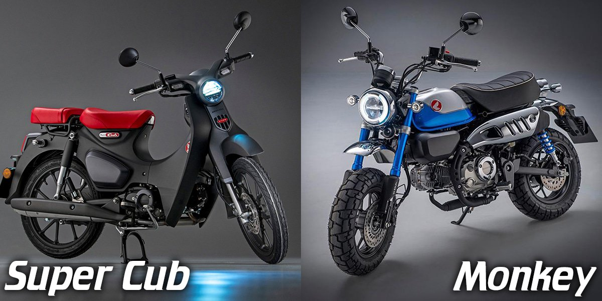 Nieuwe Honda Monkey en Super Cub 2022