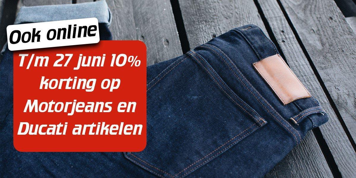 10% korting op motorjeans & Ducati actie